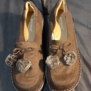 Bamboo brown shoes